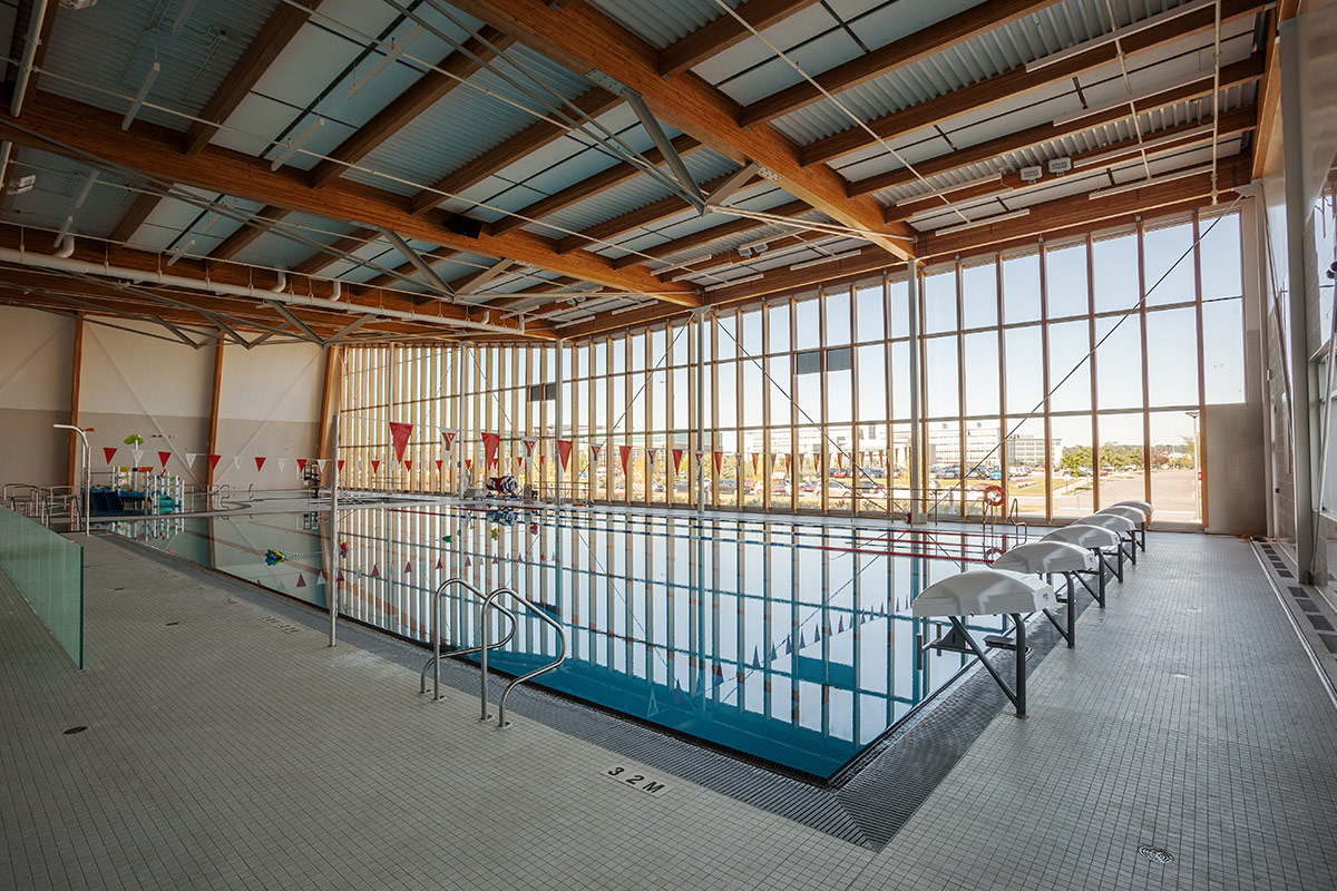 Pool inside the YMCA